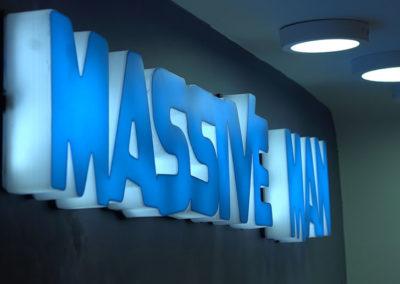 Massive Man Channel Letters